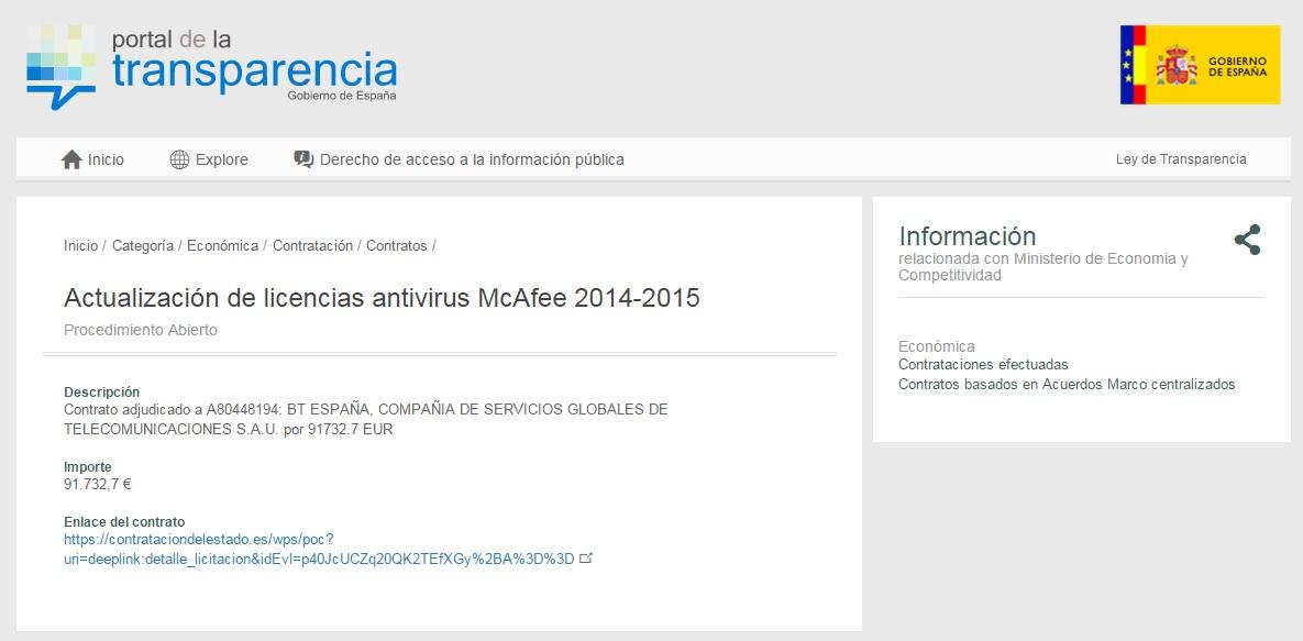 Antivirus Ministerio de Economia