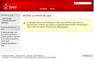 Google Chrome bloquea la ejecución de Java.
