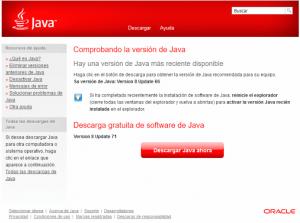Actualización de Java desde Firefox