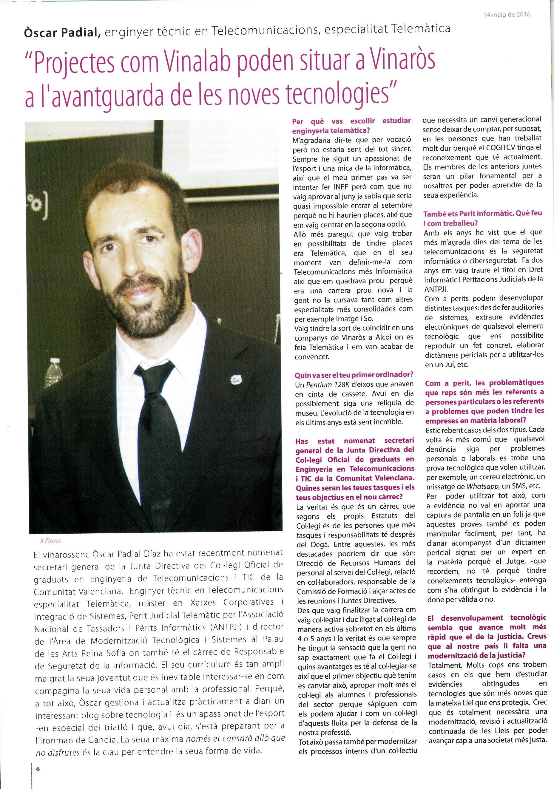 Entrevista El Diariet de Vinaros 1