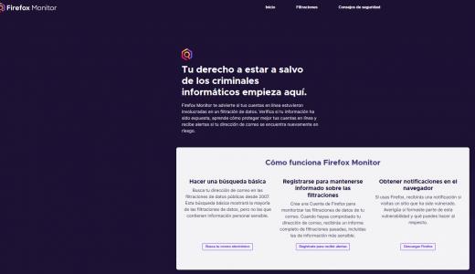 Resumen filtración de datos con Firefox Monitor
